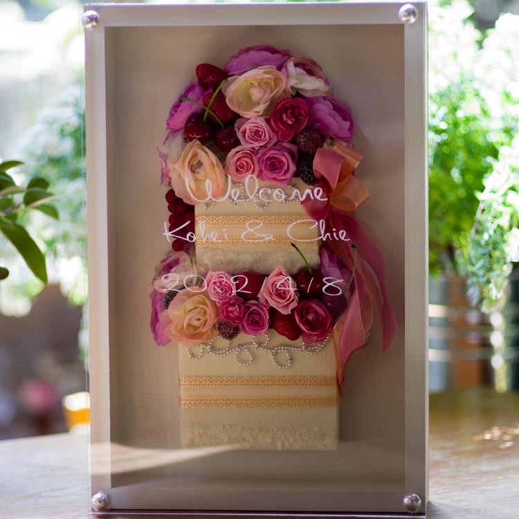 ケーキ型ウェルカムボード